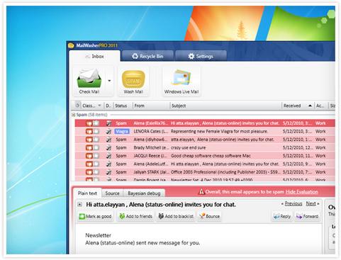 MailWasher Pro 2011 screenshot (481 pix)