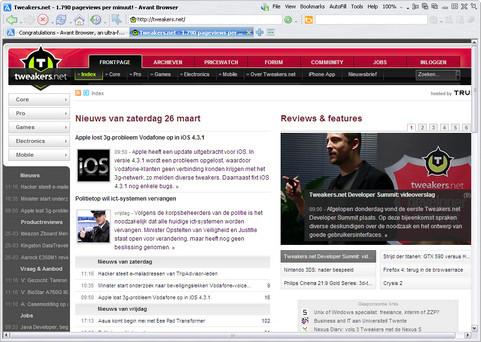 Avant Browser 2011 screenshot