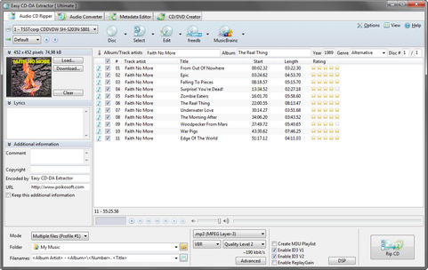 Easy CD-DA Extractor 2011 screenshot