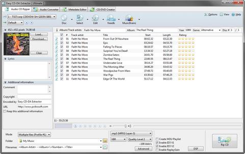 Easy CD-DA Extractor 2011 screenshot