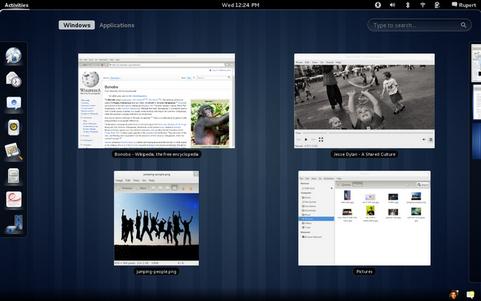De Activities Overview in Gnome 3.0 (481 pix)
