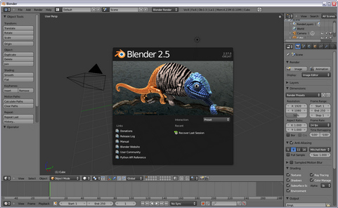 Blender 2.57 screenshot