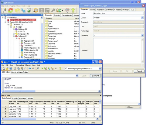 PostgreSQL screenshot