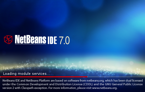 NetBeans IDE 7.0 splash screen