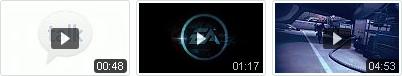 Video thumbnails met playbutton en speelduur