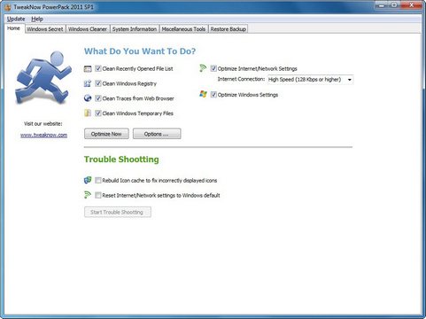 TweakNow PowerPack 2011 screenshot