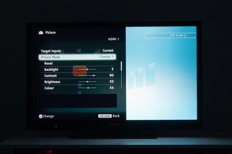 Sony Bravia EX720: 3d voor een prikje - Menu en webbrowser