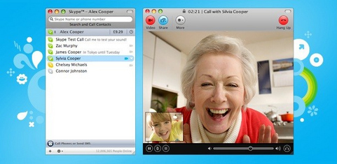 Skype for Mac screenshot (481 pix)