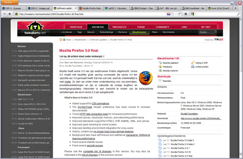 Mozilla Firefox 5.0 screenshot (481 pix)