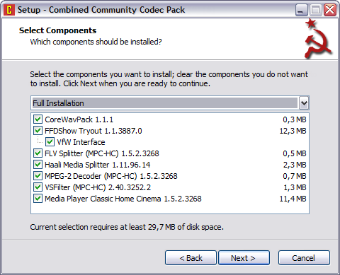 Combined Community Codec Pack 2011.06.26 screenshot