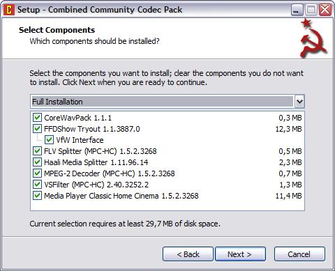 Combined Community Codec Pack 2011.06.26 screenshot