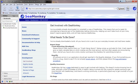 Mozilla SeaMonkey 2.1 screenshot (481 pix)