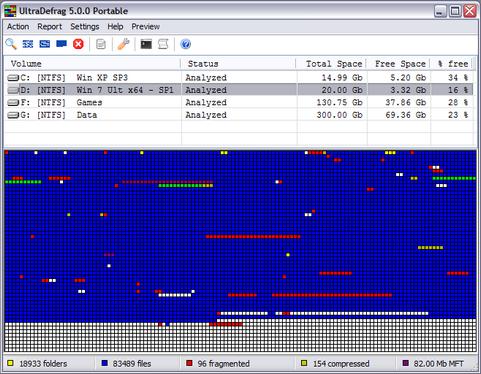 UltraDefrag 5.0.0 screenshot (481 pix)