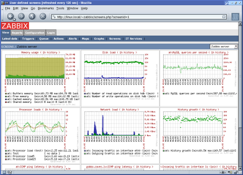 Zabbix screenshot (481 pix)
