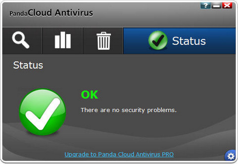Panda Cloud Antivirus screenshot (481 pix)