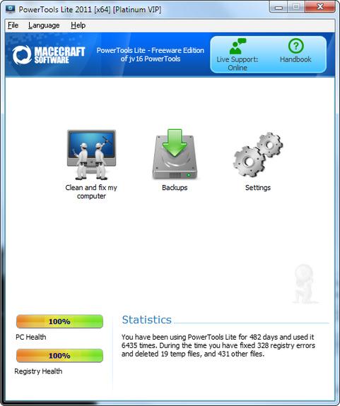 PowerTools Lite 2011 screenshot (481 pix)