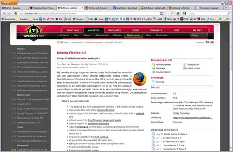 Mozilla Firefox 6.0 screenshot (481 pix)