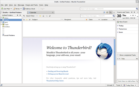 Mozilla Thunderbird 6.0 screenshot (481 pix)