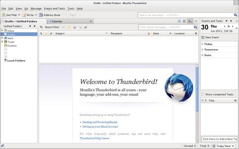 Mozilla Thunderbird 6.0 screenshot (481 pix)