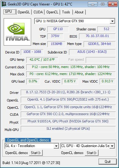 GPU Caps Viewer 1.14.0 screenshot