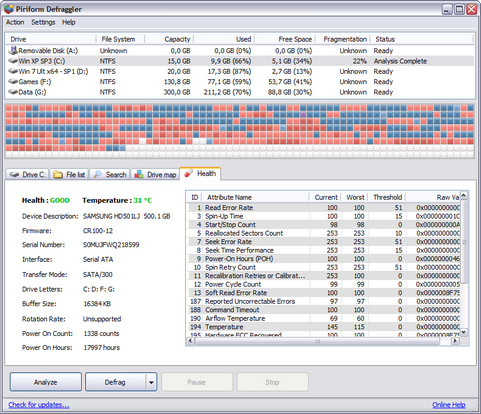 Defraggler 2.07 build 346 screenshot (481 pix)