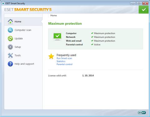 NOD32 Smart Security 5.0 screenshot (481 pix)