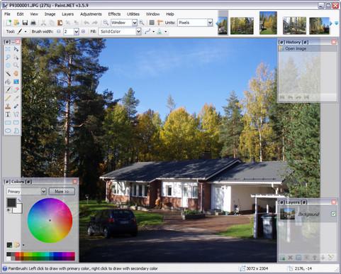 Paint.NET 3.5.9 build 4291 screenshot