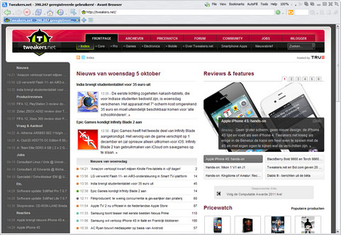 Avant Browser 2012 screenshot