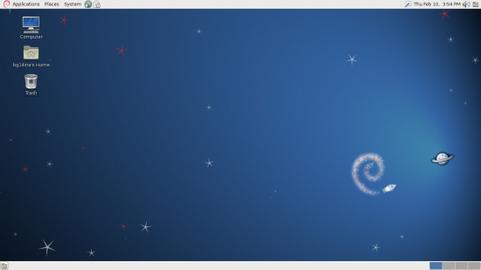 Debian 6.0 default desktop (481 pix)