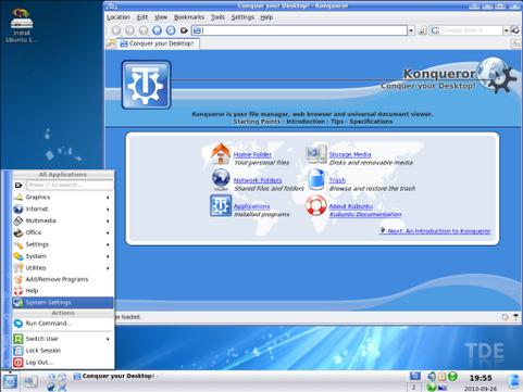 Trinity Desktop Environment screenshot (481 pix)