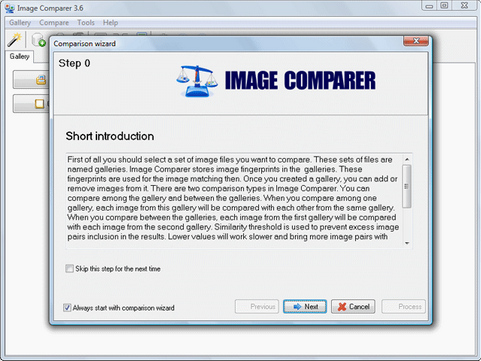 Image Comparer screenshot (481 pix)