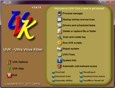 UVK screenshot (481 pix)