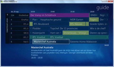 DVBLink screenshot (481 pix)