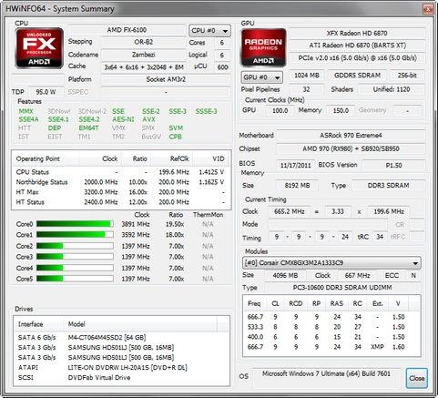 HWiNFO64 3.91 build 1470 screenshot