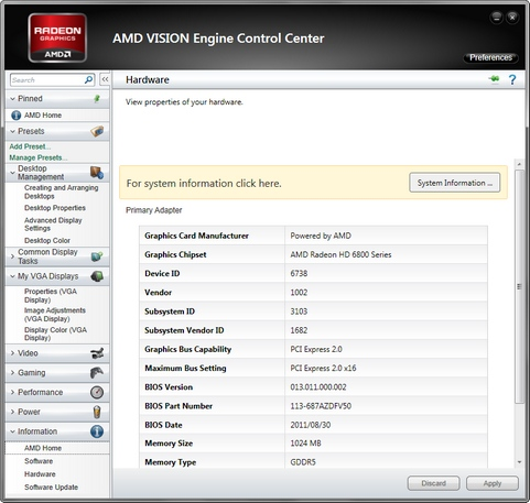 AMD Vision Engine Control Center screenshot (481 pix)