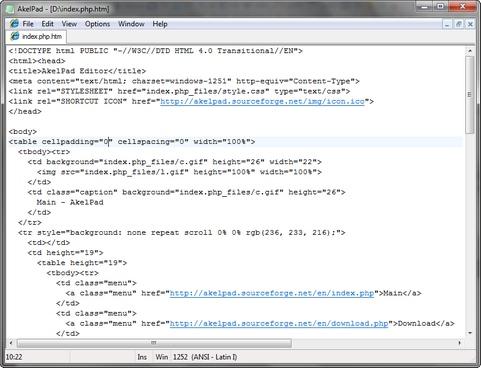 AkelPad screenshot (481 pix)