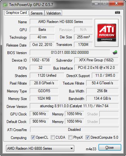 GPU-Z 0.5.7 screenshot