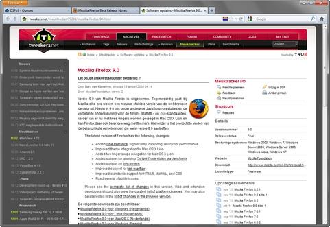 Mozilla Firefox 9.0 screenshot (481 pix)