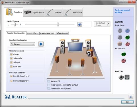 Realtek High Definition Audio 2.67 onder Windows 7