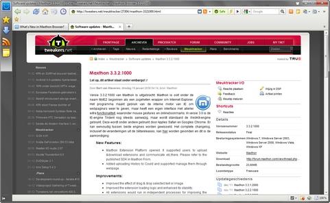 Maxthon 3.3.2.1000 screenshot