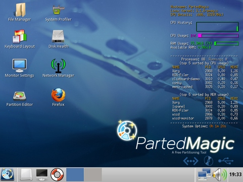 Parted Magic screenshot (481 pix)