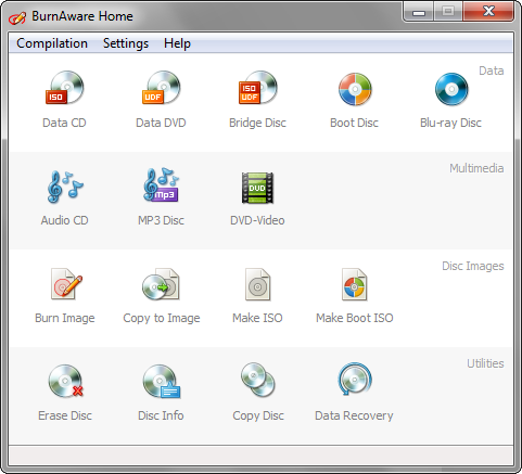 BurnAware Home 4.4 screenshot (481 pix)