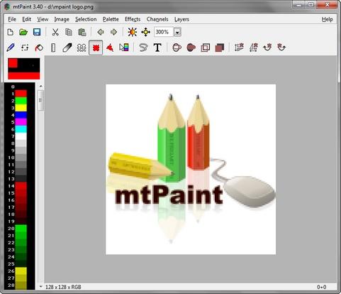 mtPaint screenshot (481 pix)