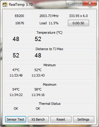 Real Temp 3.70 screenshot