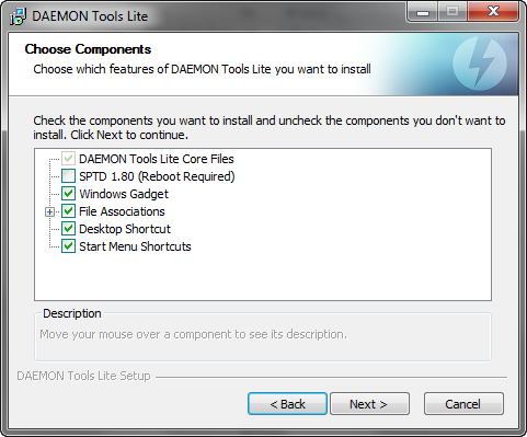 Daemon Tools Lite 4.45.2 screenshot