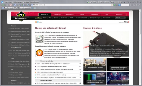 Avant Browser 2012 build 21 screenshot