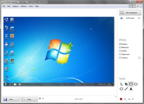 WinSnap 4.0.1 screenshot (481 pix)