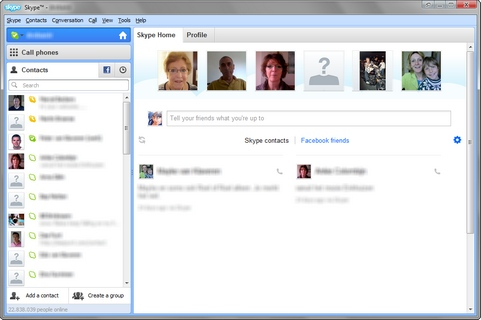 Skype for Windows 5.8 screenshot (481 pix)
