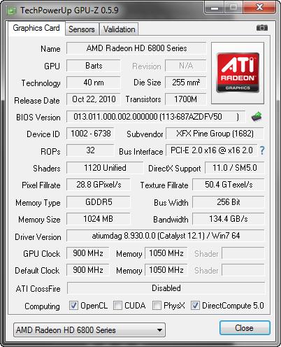 GPU-Z 0.5.9 screenshot