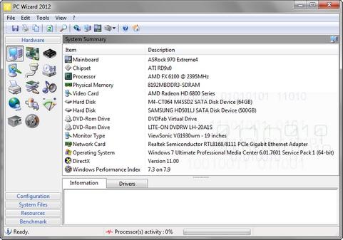 PC Wizard 2012 screenshot (481 pix)